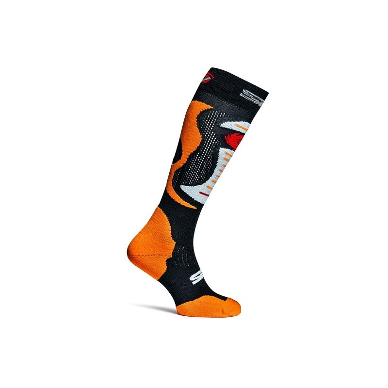 286-A-MX-ORG-SM SIDI Faenza Race Socks-Fluo Orange
