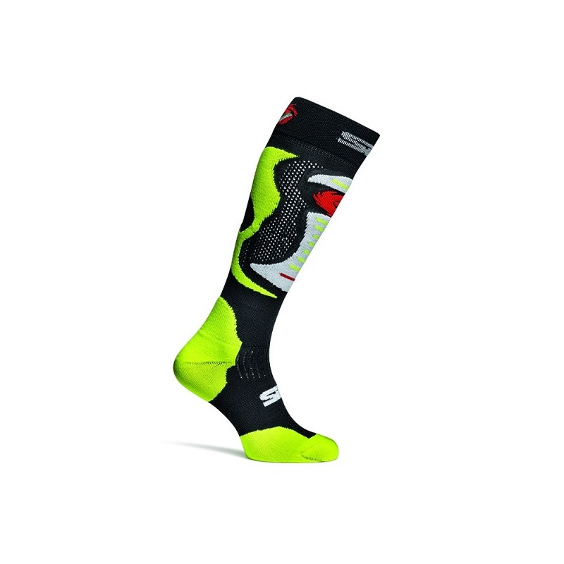 286-A-MX-FLO-SM SIDI Faenza Race Socks-Fluo Yellow
