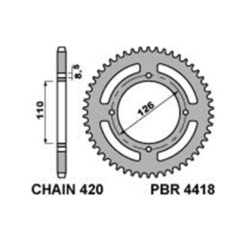 213-R-4418 PBR Steel Rear...
