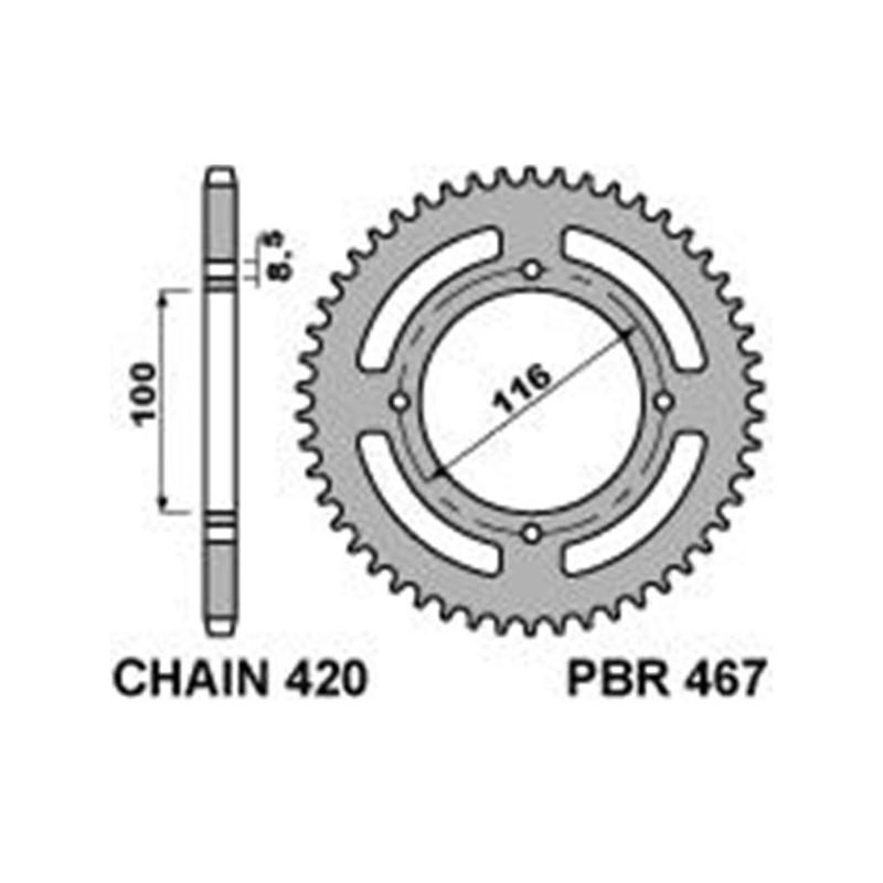 213-R-0467 PBR Steel Rear...