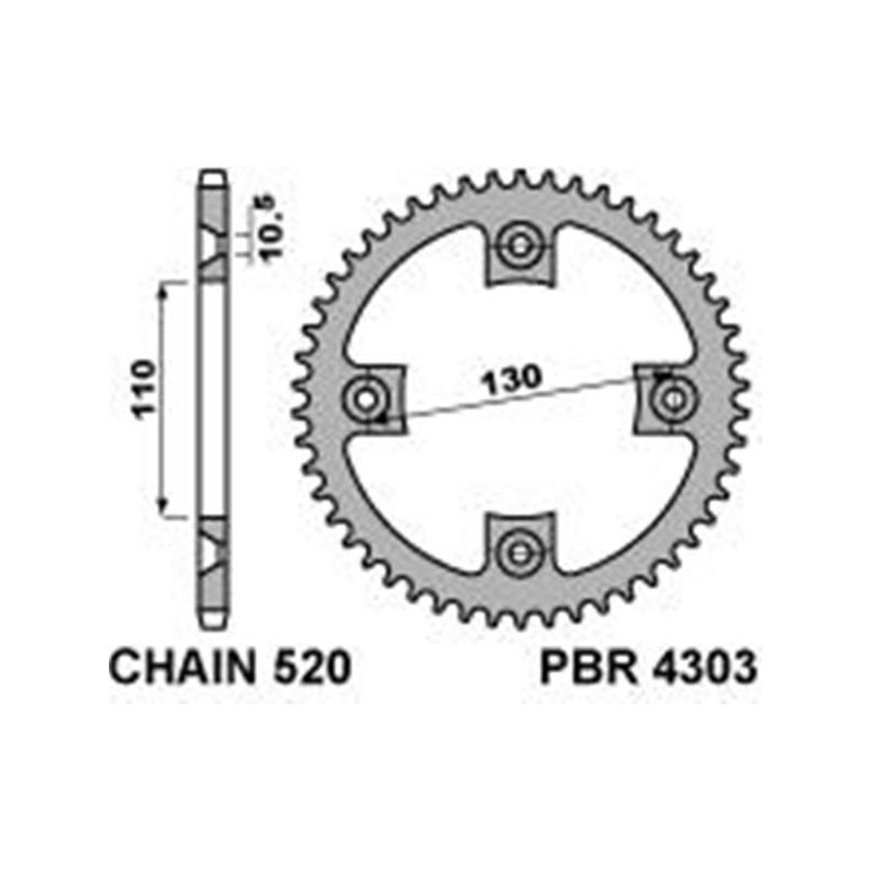 213-R-4303 PBR Steel Rear...