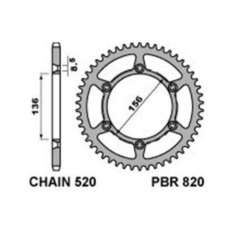 213-R-0820 PBR Steel Rear...
