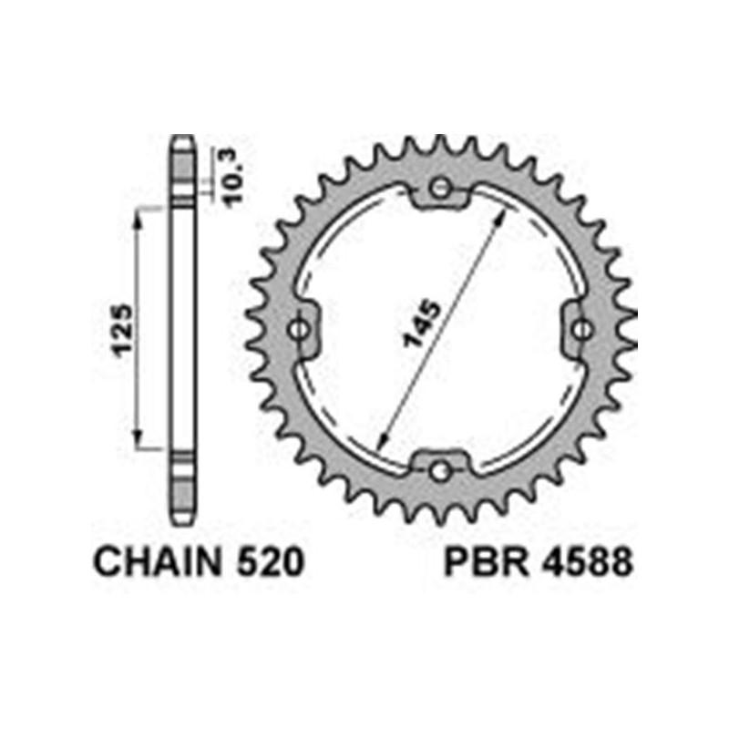 213-R-4588 PBR Steel Rear...
