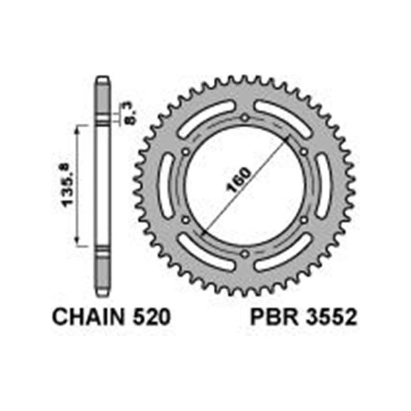 213-R-3552 PBR Steel Rear...