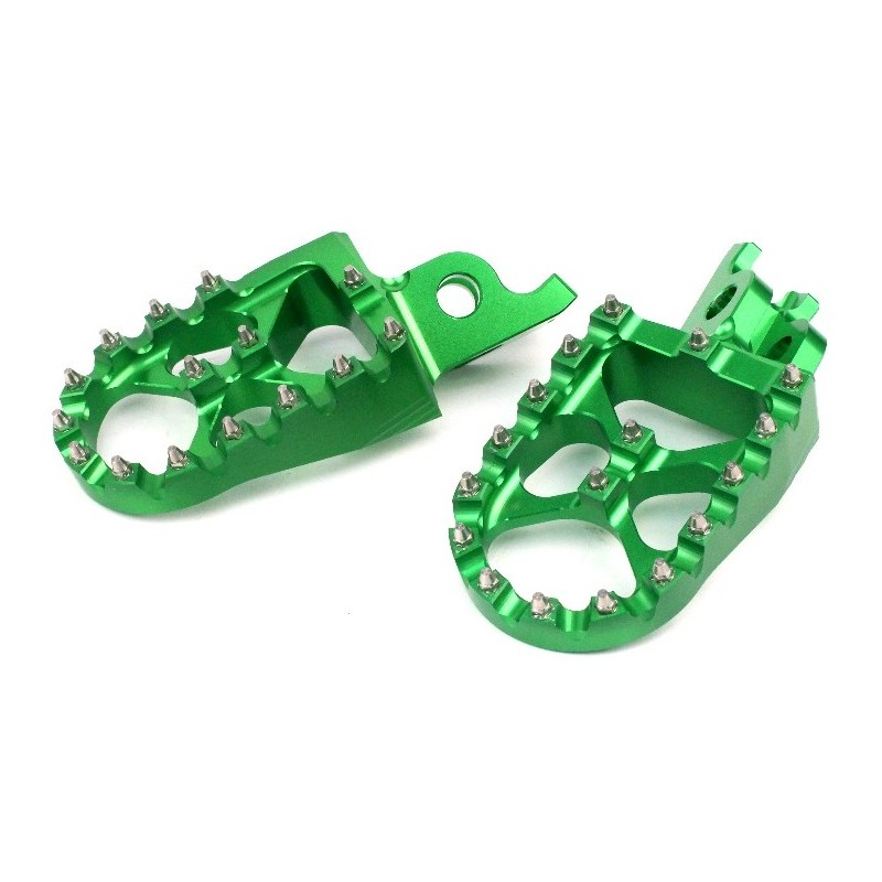 279-MSD792K Wide Alloy Foot Pegs-Green-KXF250/450/KLX