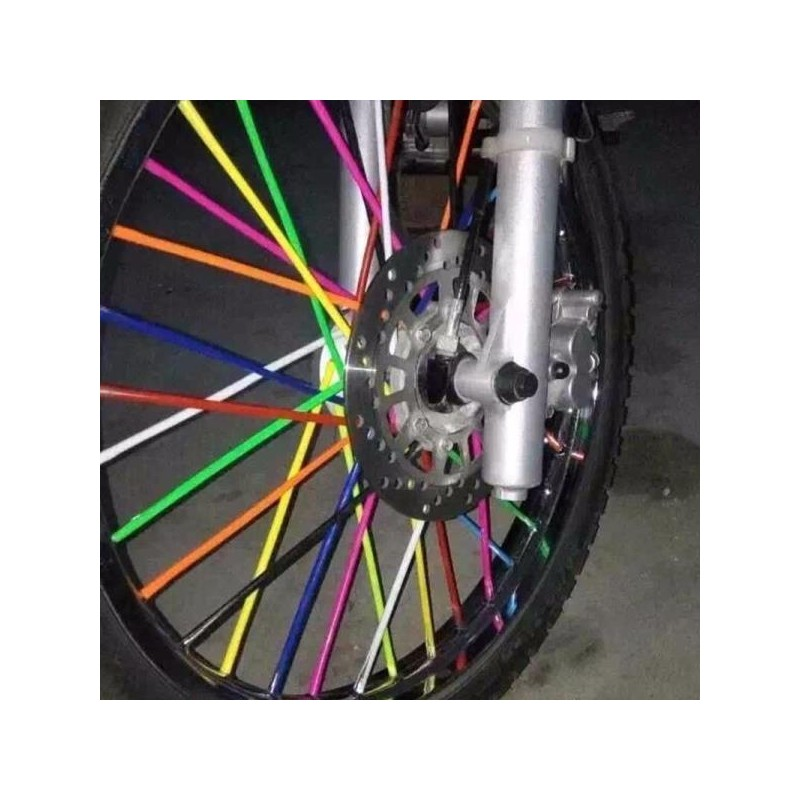 "282-SS102RBW-Spoke Skins ""18/19"" & ""21 Wheels-Rainbow"