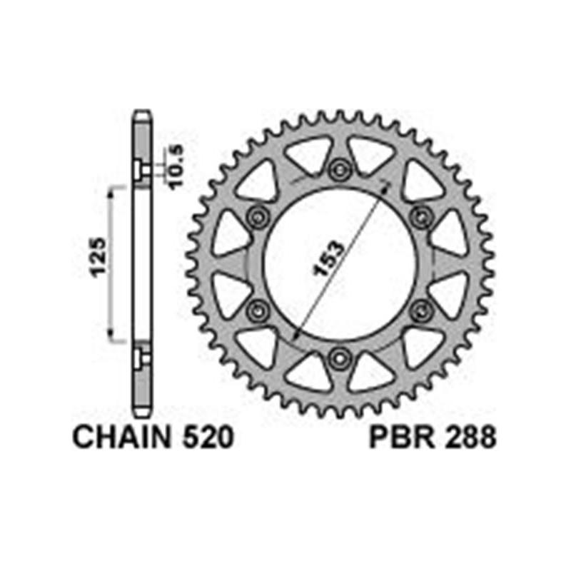 213-R-0288 PBR Steel Rear...