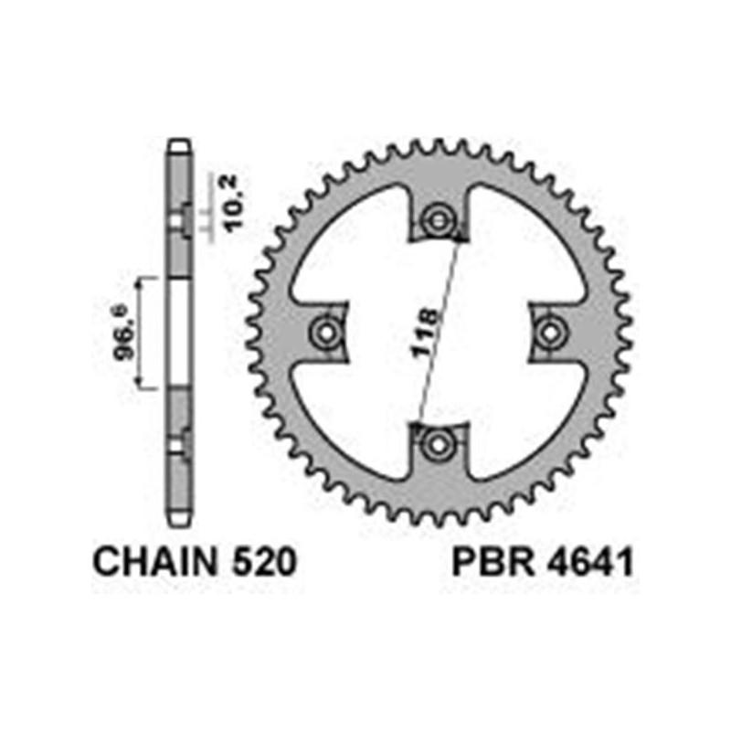 213-R-4641 PBR Rear Sprocket