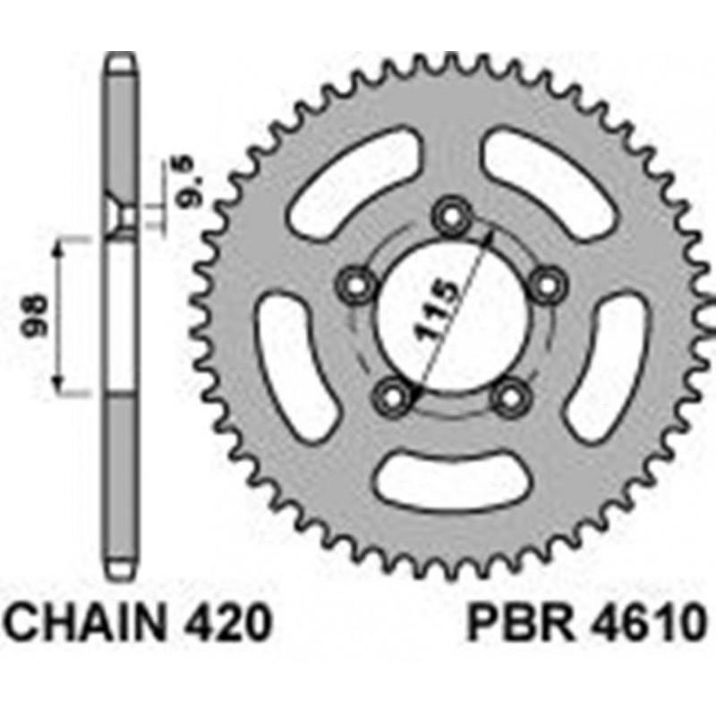 213-R-4610 PBR Steel Rear...