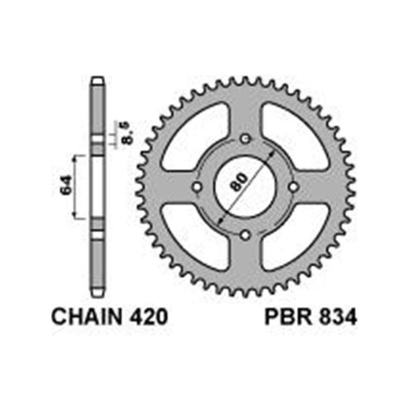 213-R-0834 PBR Rear Sprocket