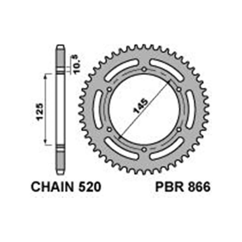 213-R-0866 PBR Rear Sprocket