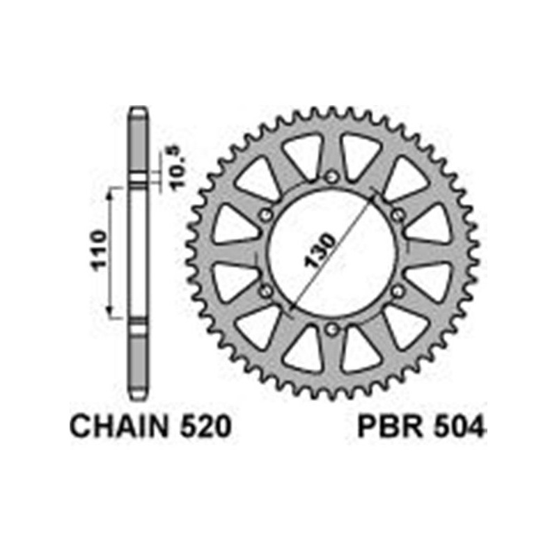 213-R-0504 PBR Rear Sprocket
