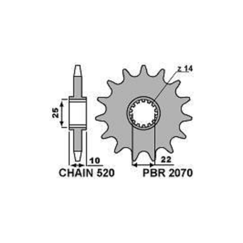 213-F-2070 PBR Front Sprocket