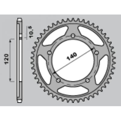 213-R-4398 PBR Steel Rear...